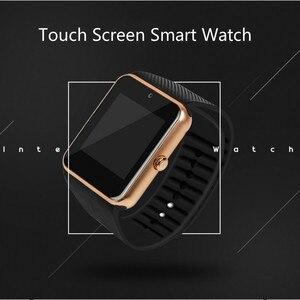 Image 4 - Smart Uhr Große scren touch Bluetooth fitness Uhr 2G Netzwerk mit SIM karte Call nachricht Erinnerung Schrittzähler Android tragen touch