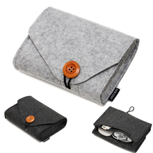 1pc Home Office Storage Bag Power Card Mouse Date Cable Organization Key Coin Package Earphone SD Travel Organizer