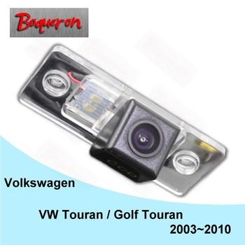 Dla Volkswagen Touran Golf Touran 2003 ~ 2010 HD CCD Night Vision Backup Parking kamera cofania tylna kamera samochodowa NTSC PAL tanie i dobre opinie wireless Drutu ACCESSORIES Pojazd backup kamery Z tworzywa sztucznego Szkło Boqueron Volkswagen Touran Golf Touran 03 04 05 06 07 08 09 10