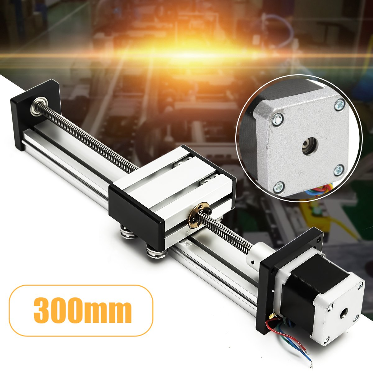 300mm Slide Stroke CNC Linear Motion Lead Ball Screw Slide Stage Stroke 42 Motor Actuator Stepper For Engraving Machine funssor 50mm 150mm slide stroke cnc z axis slide linear motion nema17 stepper motor for reprap engraving machine