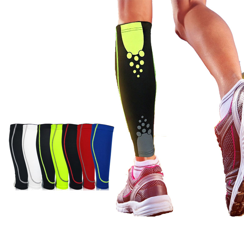 1PCS Calf Compression Sleeves Support Sports Safety Running Sports Support Brace Leg Socks Pad Shin Guard Soccer Protector