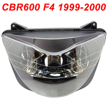 For 99-00 Honda CBR600 CBR 600 F4 Motorcycle Front Headlight Head Light Lamp Headlamp CLEAR 1999 2000