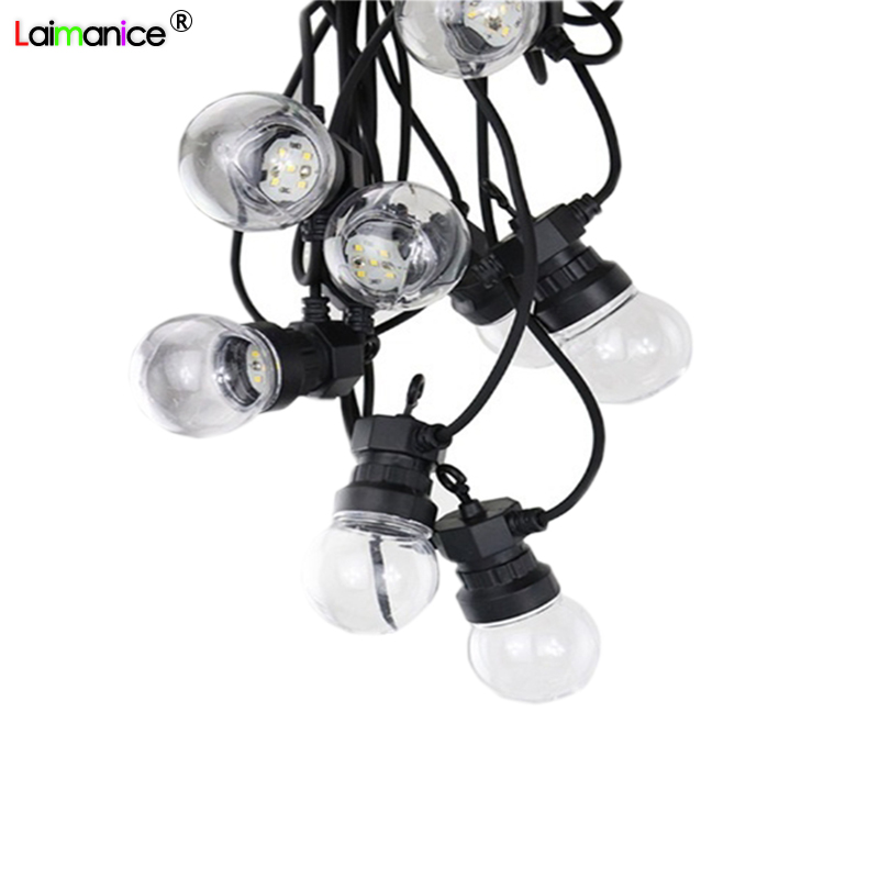 цена 220V 42ft G50 festoon Led globe bulb led string lights outdoor waterproof led ball string garland party wedding Backyard Patio