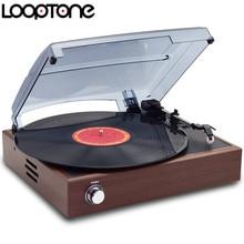 LoopTone 33/45/78 RPM Stereo Vinyl LP Tocadiscos Tocadiscos Línea de Jugadores Con 2 Altavoces Incorporados salida AC110 ~ 130 V y 220 ~ 240 V