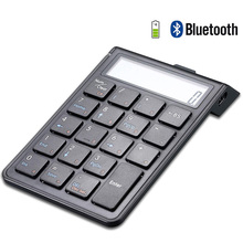 лучшая цена Chargeable Bluetooth Numeric Keypad and Calculator 2-in-1,Wireless Number Pad Keyboard with 12-Digit LCD Display for PC, Laptop