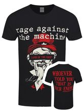 Rage Against the Machine Sam Free Mens Black T shirt Short Sleeves New Fashion T-Shirt Men Clothing