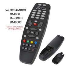 Smart TV Remote Control Replacement Television Remote Control Unit Black All Functions For DREAMBOX DM800 Dm800hd DM800SE HDTV
