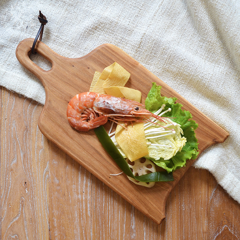 Wooden Pizza Peels Pizza Pad Multi-Use Cutting Board/Chopping Block Eco Natural Wood Bread Board Fruits/Cake Plate