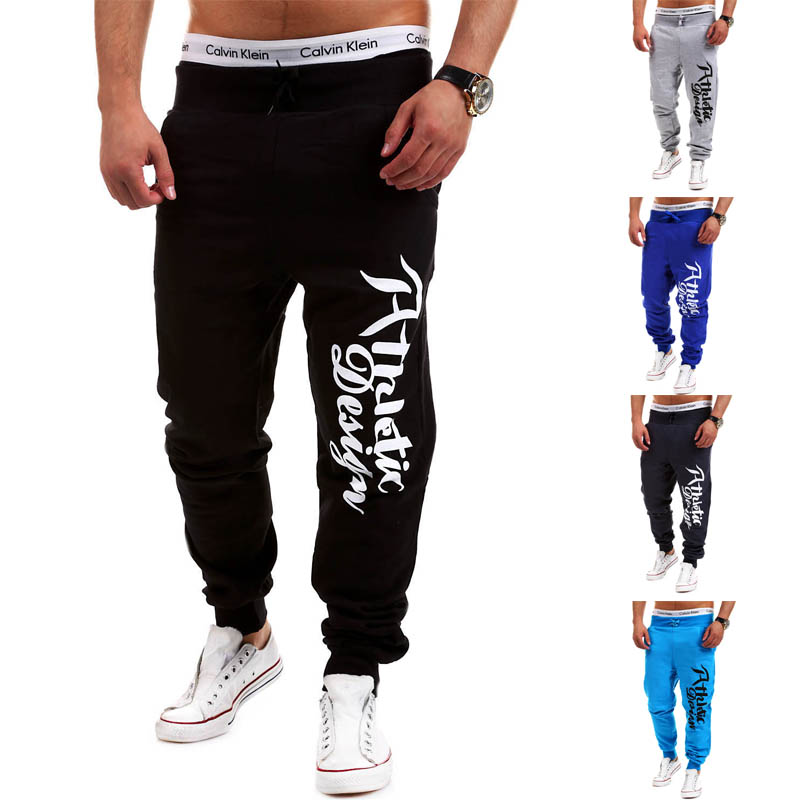 Men Pants Jogger Printed Male 2xl Brand Casual Lacing Letters Rushed Direct-Selling