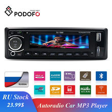 "Podofo Autoradio Car Radio Stereo Player Bluetooth 4"" 12V car stereo Player In-dash 1Din Phone AUX-IN MP3 FM/USB/Remote Control(China)"