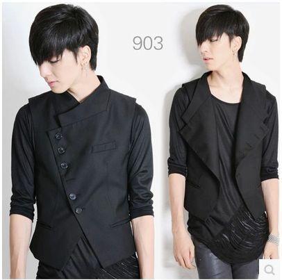 Male autumn korean slim suits vest New Casual Business Jacket Dress vests for men Men's leisure waistcoat tops colete masculine