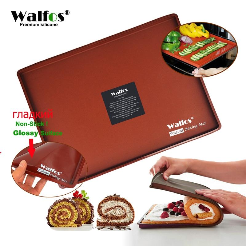 1pc μη κολλητική σιλικόνη φούρνο Mat κέικ Roll Mat ψησίματος ματ Λειτουργική ψησίματος Μακαρόνια τούρτα Pad ελβετικό ρολό Pad Bakeware ψησίματος Εργαλεία