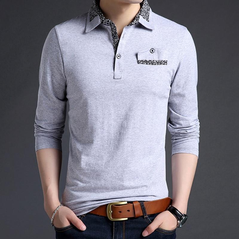 Plus size men   polo   shirt long-sleeve 2019 new spring and autumn smart casual male   polo   shirt lapel cotton Korean style P04