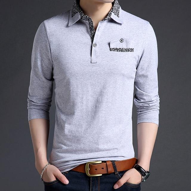 cdae4585e9 Plus size men polo shirt long-sleeve 2019 new spring and autumn smart  casual male polo shirt lapel cotton Korean style P04
