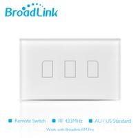 2016 New Broadlink TC2 Light Touch Switch US AU 110V 3Gang Wall Switch Wireless Remote Control