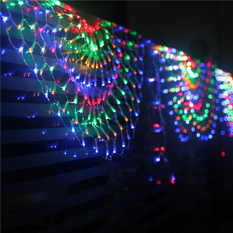 Creative Curtain Decoration Lights Wedding Background Window Decoration Peacock Led Net Light Holiday Light Series M X  M In Holiday Lighting From