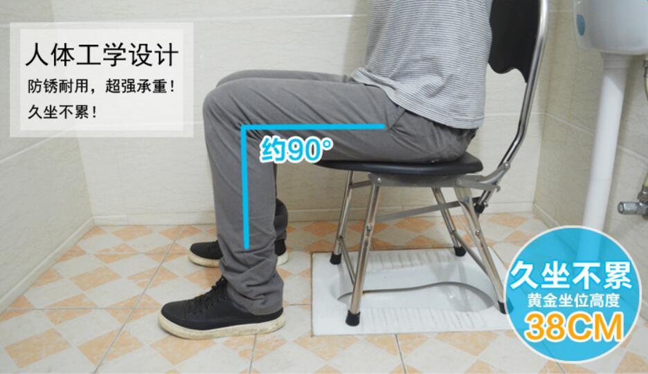 Stainless Steel Folding Commode Chair Pregnant Woman Bathroom Chair  Skidproof Mobile Potty Chair For Patients In Bathroom Chairs U0026 Stools From  Furniture On ...