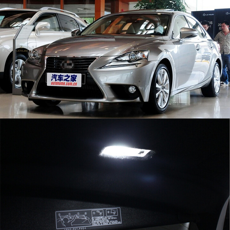 auto led 12 v lamp interieur verlichting dome kofferbak deur pakket kit voor lexus is 2013 2014 auto styling 11 stks per set auto accessoires