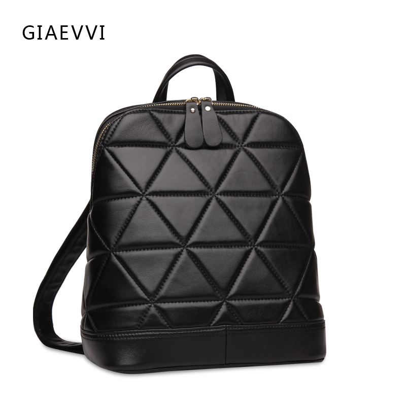ФОТО GIAEVVI women leather backpack fashion school bags for teenagers shoulder bag designer luxury genuine leather bags