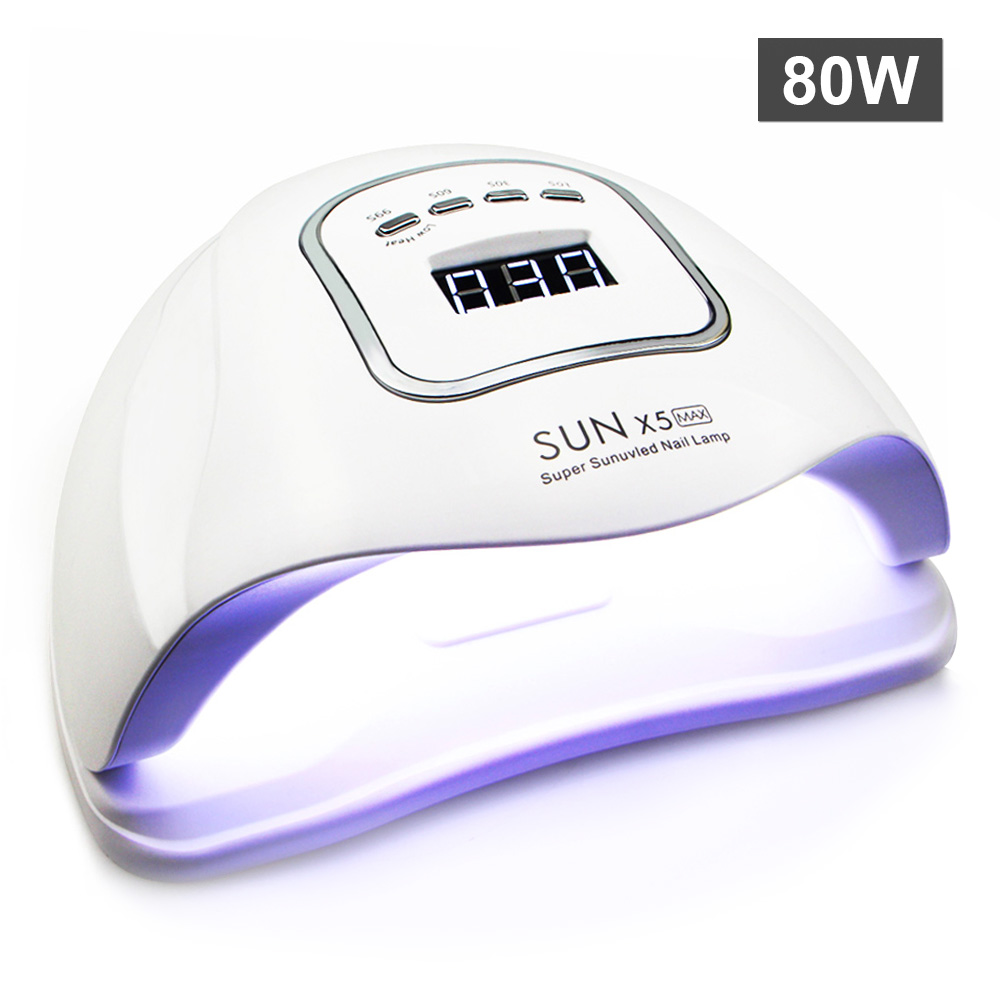 80W Portable UV Lamp SUNXplus LED Lamp Nail Dryer For All Gel Polish Dual Power Quick Drying With Automatic Sensor Smart Control