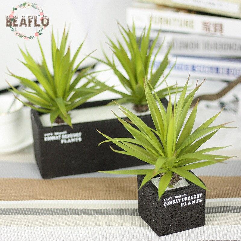 2 Colours Artificial Plastic Leaves Succulent Plant Microlandscape Flower Arrangement Home Decoration Indoor
