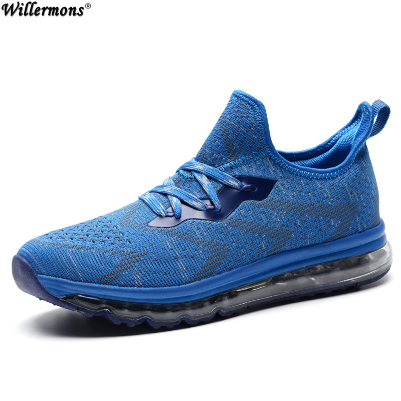 2017 Summer Men's Breathable Flyknit Air Cushioning Running Sneakers Shoes Men Outdoor Jogging Sports Athletic Shoes 2017brand sport mesh men running shoes athletic sneakers air breath increased within zapatillas deportivas trainers couple shoes