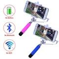 2016 caliente mini portátil plegable teléfono móvil con cable auto selfie palos para iphone samsung built-in obturador de la cámara monopie trípode