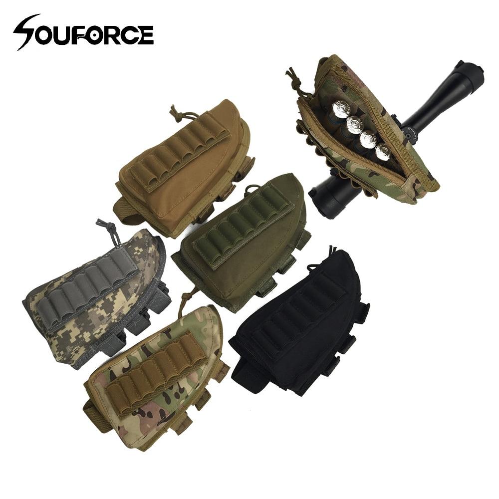 5 cor rifle tático espingarda buttstock bochecha resto rifle estoque munição escudo arma acessórios para a caça