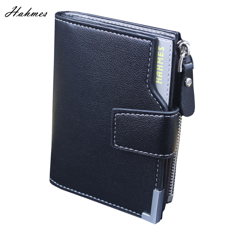 High quality men Wallet with coin holder men clutch leather zipper bag Coin Purse card holder male short wallet coin pocket brand high quality business genuine leather men wallet credit card holder black real leather vertical purse with coin pocket 50