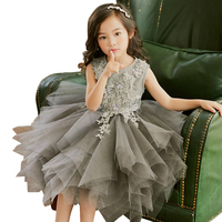 3d4c40332b7b44 Christmas Long Dress Age 4 12 Yrs Baby Girl Lace Tulle Ball Gown Princess  Costume Winter