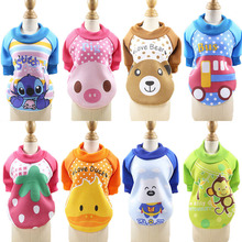 Cartoon Velvet Dog Clothes