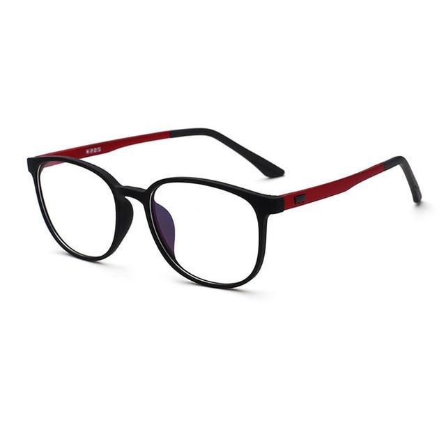 Mincl Fashion Klasik TR90 Kacamata Bulat Kotak Komputer Membaca Unisex Frame  Kacamata Optik Wanita Pria 9984057e46