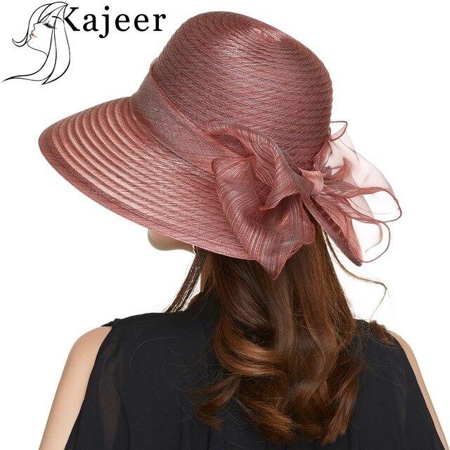 43187f038f0db Kajeer Church Caps Wide Brim Floppy Beach Women Wine Red Hat Summer Travel  Cap Party Ladies Casual Hats Female Fedoras Summer