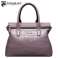ZOOLER Hot Leather Bags Handbags Type Women Famous Brands 2017 European Style Ladies Genuine Leather Bags