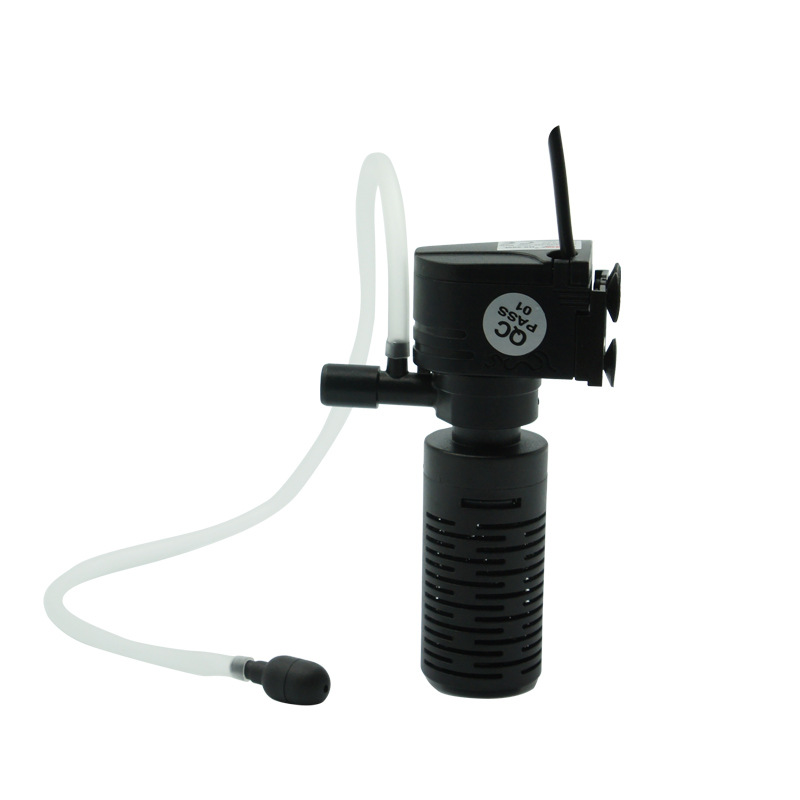 Mini 3 In 1 Multi-function Aquarium Purifier Water High Quality Fish Tank Filter 3W 220~240V 50Hz EU Plug FA009