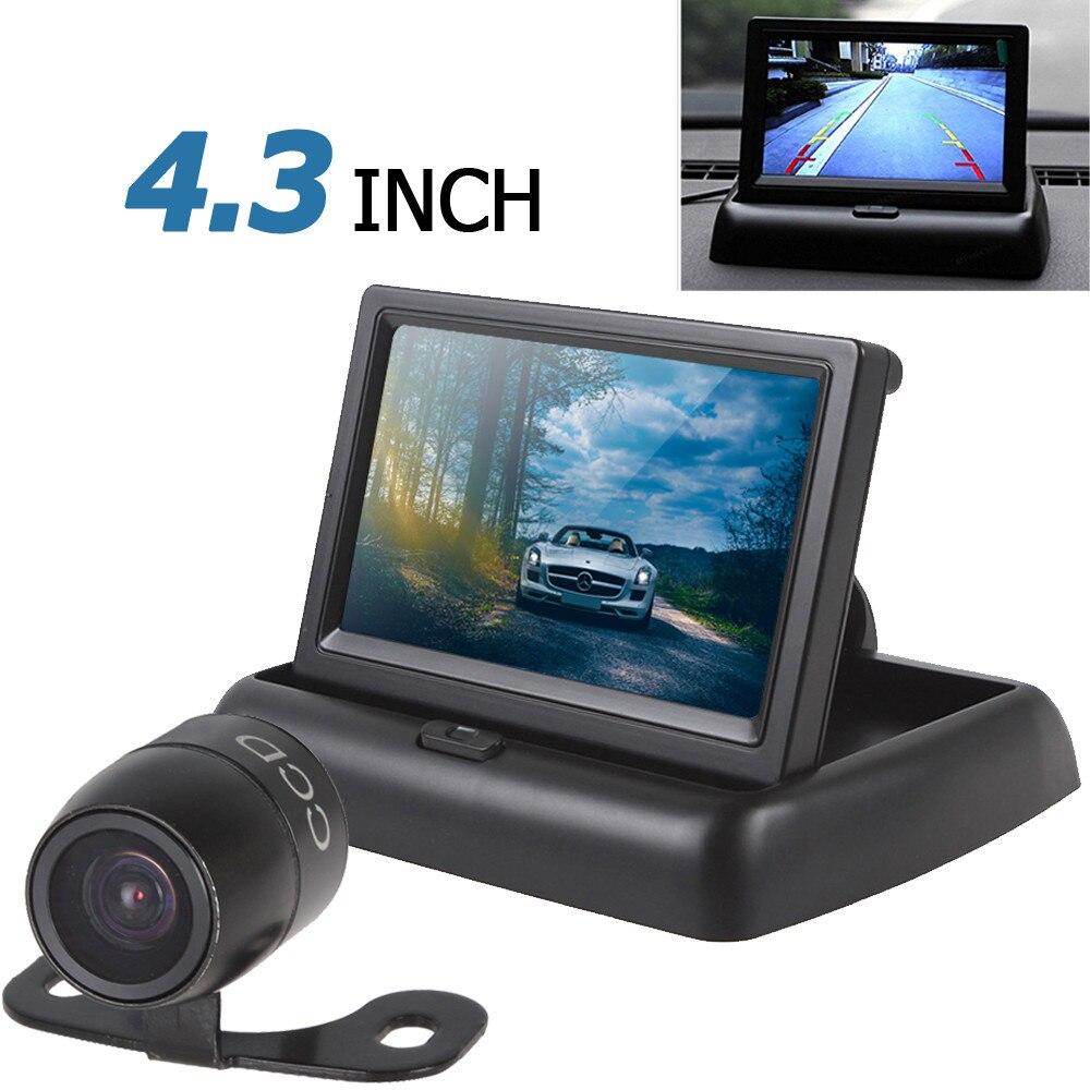 AUTO ORIZZONTE Vendita Calda 4.3 Pollice Monitor Dell'automobile TFT LCD Car Rear View Monitor + Waterproof 420 TVL 18mm Lens Inversione di Parcheggio fotocamera