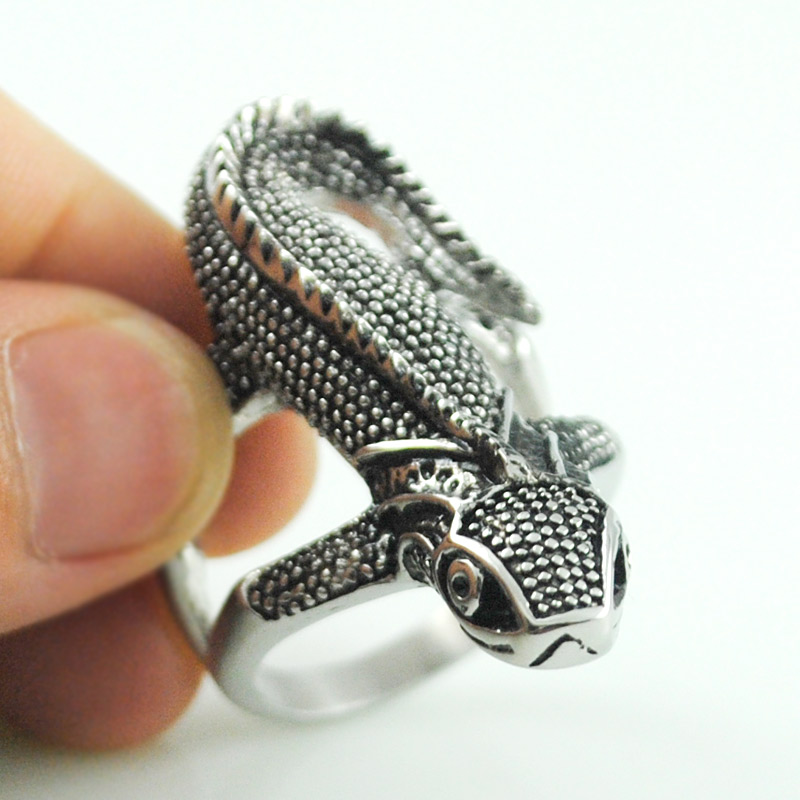 adjustable silver caymancode and rings ring unique in cute lizard