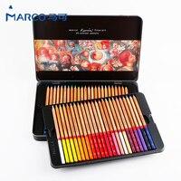 Марко 24/36/48/72/100 Цвет карандаш воды Цвет масло lapis (жидкокристаллический дисплей) Цветные карандаши prismacolor MARCO raffine Мелки школьные принадлежно...