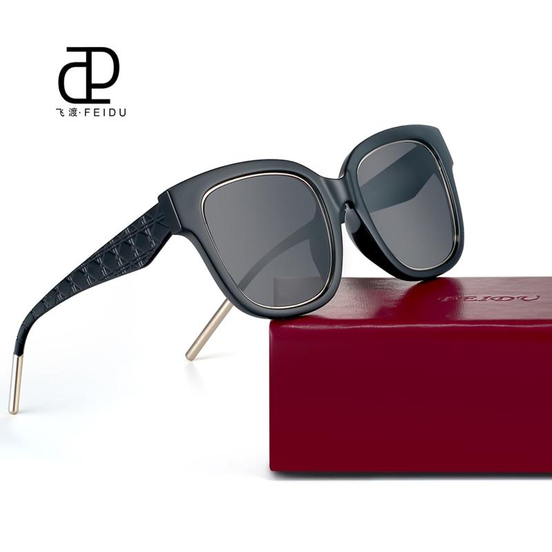 24df5fb778 FEIDU 2017 New Square Sunglasses Women Brand Designer Coating Mirror Sun  Glasses Ladies Retro Eyewear Oculos De Sol Feminino