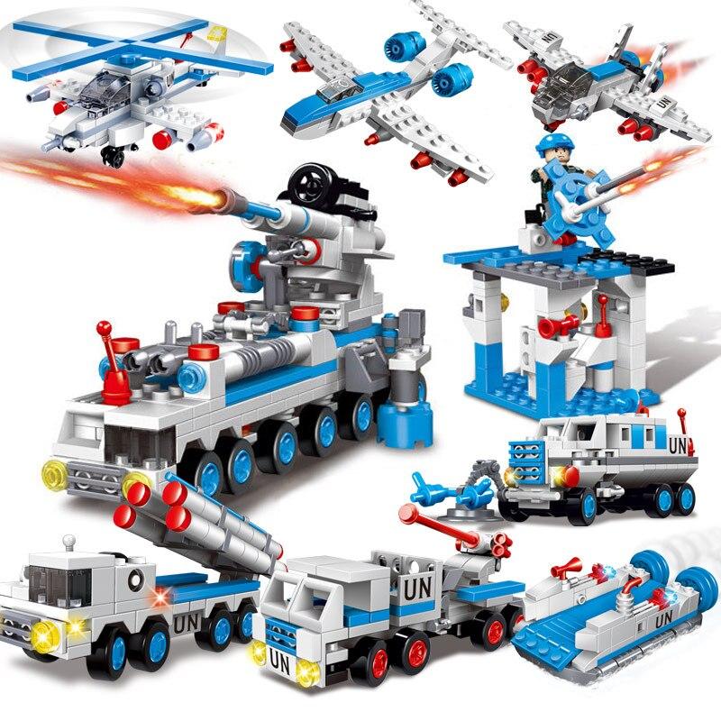 Military Education Building Blocks Boys Children's Toys UN Peacekeepers Weapons Dolls Compatible Legoe lego education 9689 простые механизмы