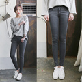 6570 high waist jeans female slim black grey skinny pants pencil pants trousers female trousers