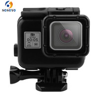 Action Camera Underwater Waterproof Case Guard Diving Protection Housing For GoPro Hero 5 Black Camera Accessories