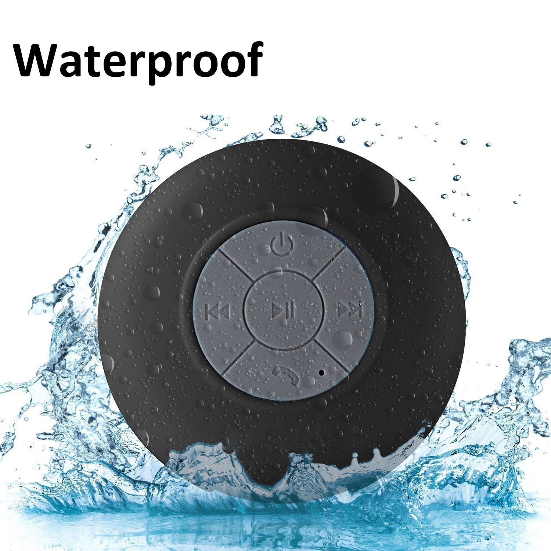 Waterproof Bluetooth Shower Speaker, Lonchan Water Resistant Handsfree Portable Wireless Shower Speaker ,Build-in Microphone