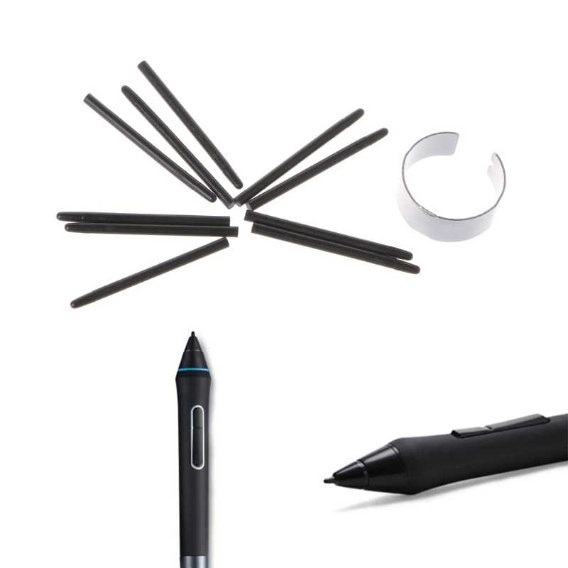 10 個のグラフィック描画パッド標準ペン先ワコム用描画ペンcte、mte、ctl、cthシリアルタブレットのペン