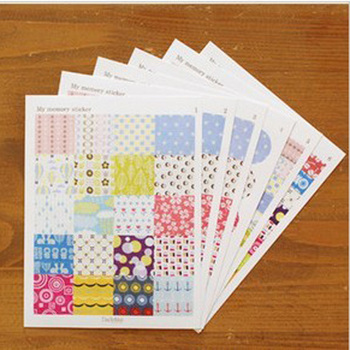 6sheets Daydream DIY Printed Seal Stickers For DIY Notebook Album Scrapbooking Decoration Paper Sticker image