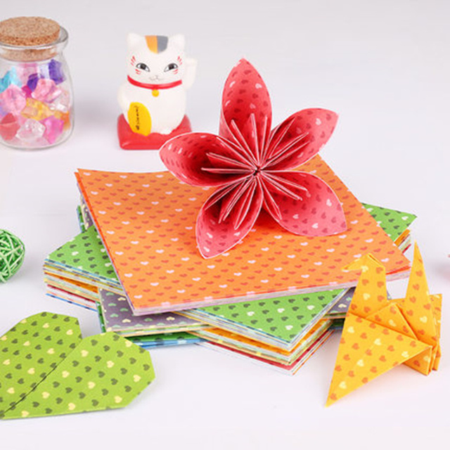 Aliexpress Buy 100pcslot Colorful Scrapbooking Paper Set Diy