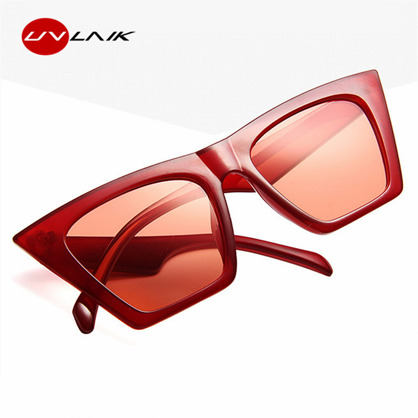 UVLAIK Senhoras Gato olho Óculos De Sol Das Mulheres Dos Homens UV400  Cateyes Sunglass Marca Designer 3155c1ac29