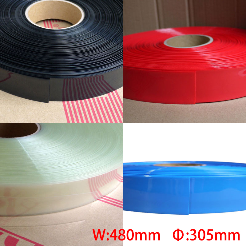 1M Blue 480mm Width 305mm Dia Battery Pack Insulation Protective Casing DIY PVC Heat Shrink Tubing Shrinkable Tube