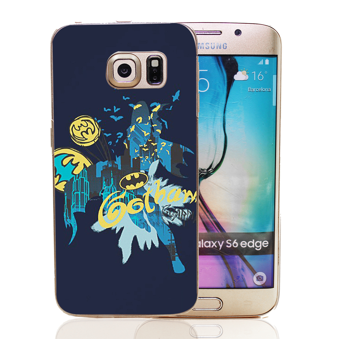 Batman gotham guardian notebook sketch style transparent hard back cover for samsung galaxy s3 s4 s4 s5 mini s6 s7 edge