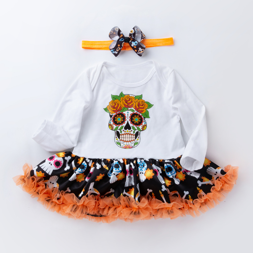 Halloween Girl 39 s Dress Baby Tutu Dresses Long Sleeve Climbing Clothes New Children 39 s Clothes Vestido Infantil 2019 New Product in Dresses from Mother amp Kids